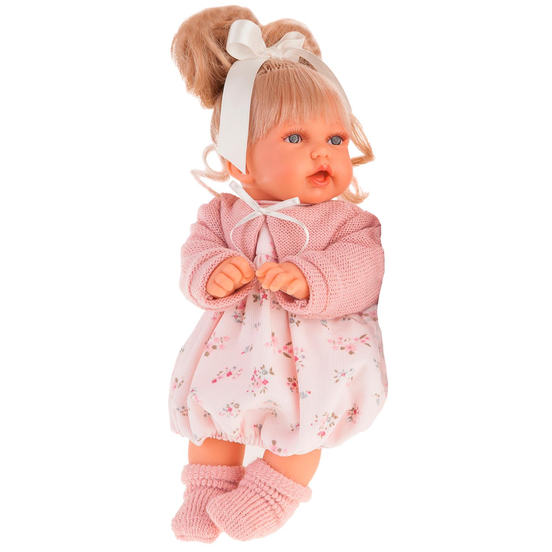 Купить Antonio Juan Озвученная кукла Лухан в светло-розовом, 27 см, Испания