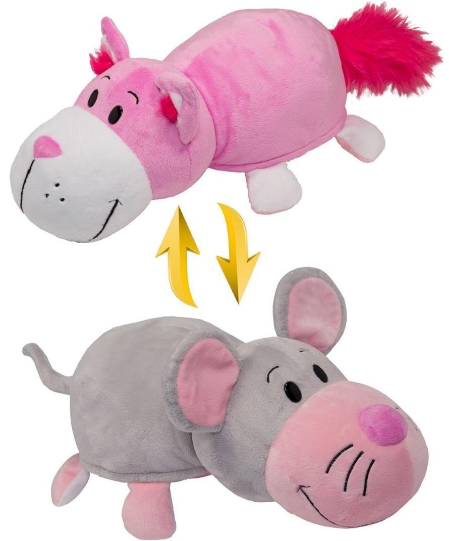 Купить Мягкая игрушка Вывернушки 1Toy Розовый кот-Мышь 35 см, Китай