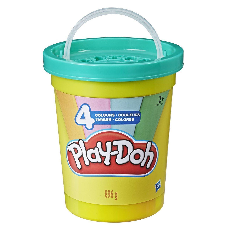 Купить Игровой Набор Hasbro Play-Doh Большая банка 4 цвета Зеленая крышка , Китай