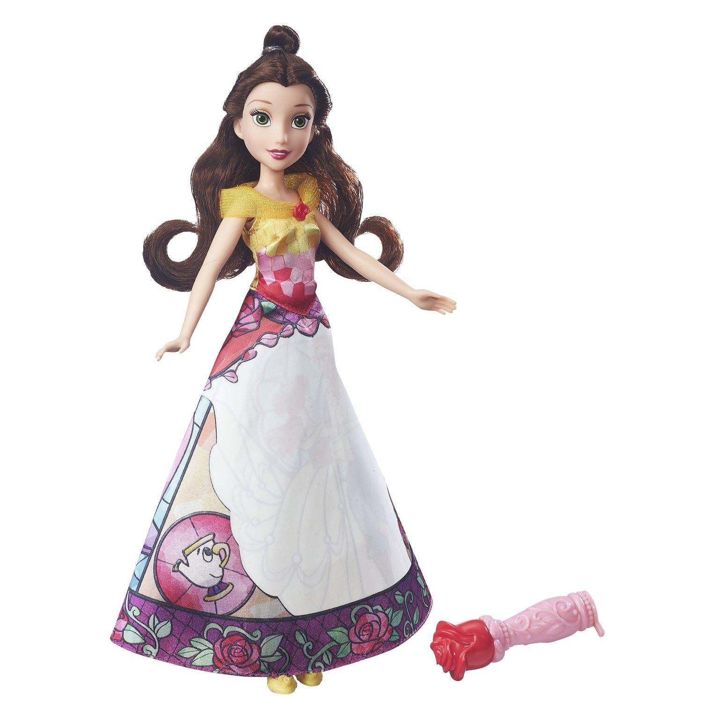 Купить Кукла Princess Hasbro в юбке с проявляющимся принтом Белль, Disney Princess, Китай
