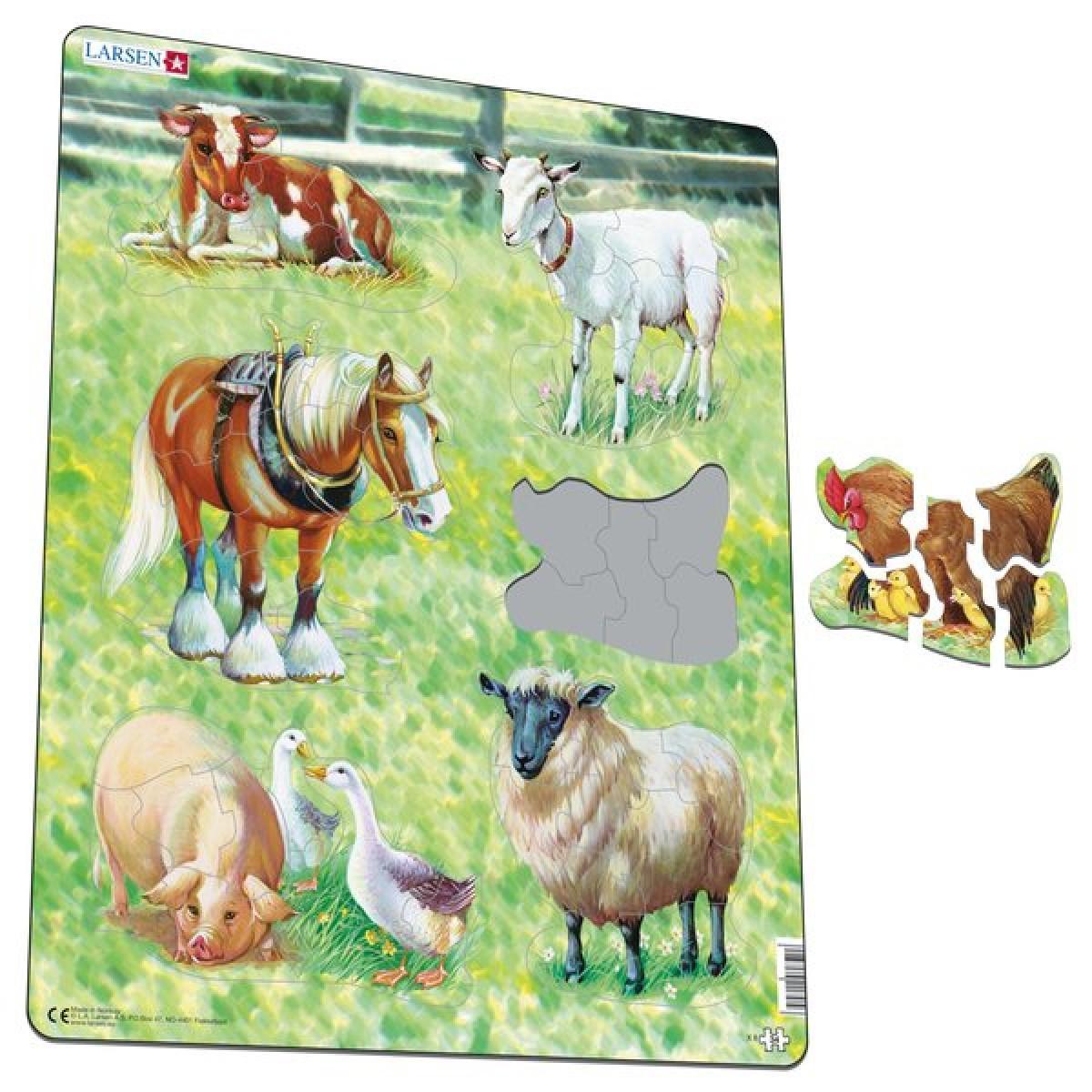 Купить Пазл Larsen Домашние животные , 34 элемента, Норвегия