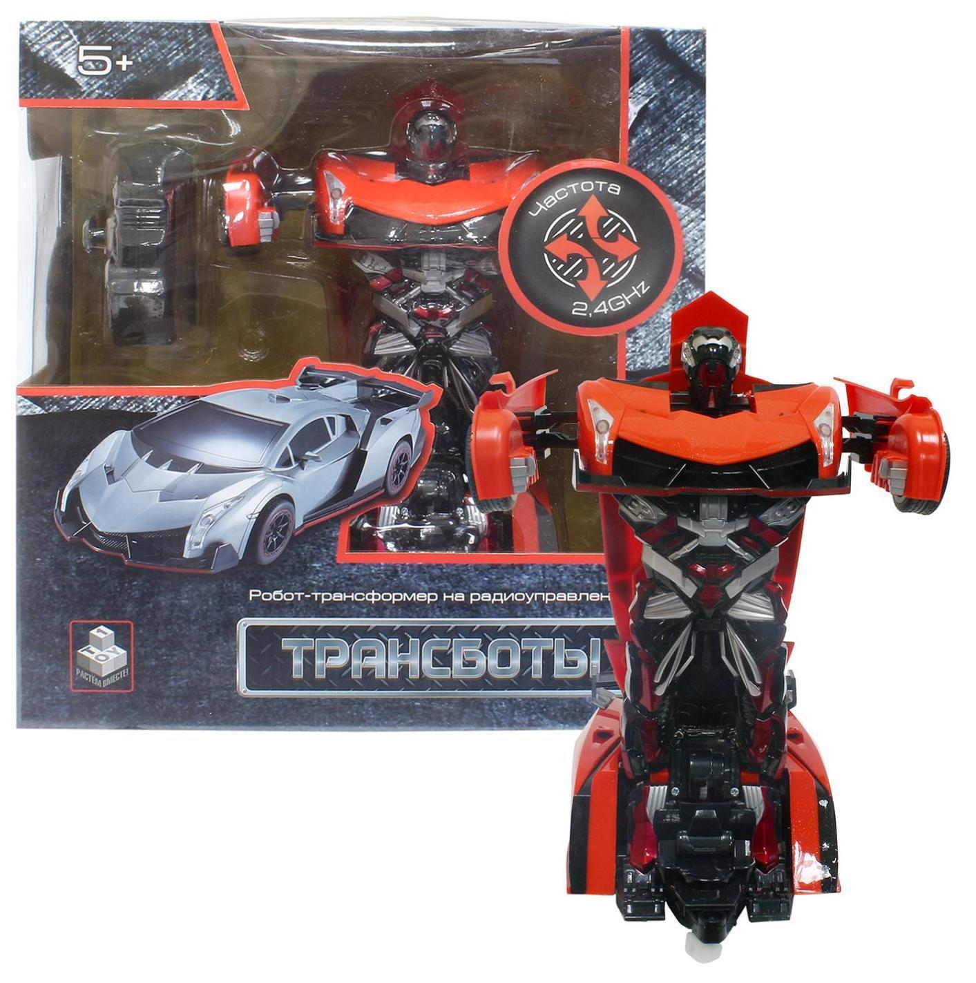 Купить 1TOY Трансботы - Спорткар - робот-трансформер на пульте | оранжевый, Китай