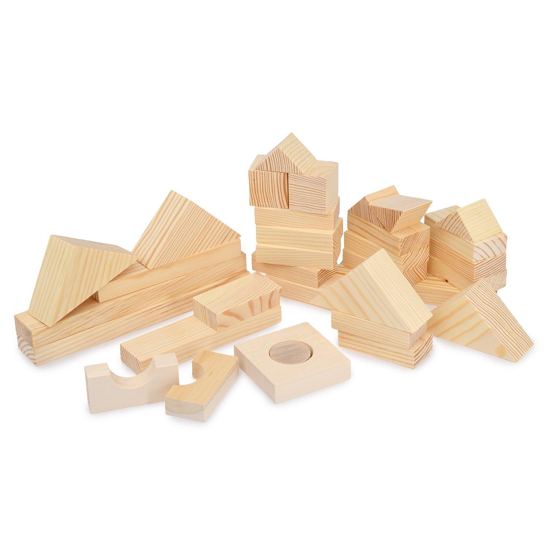 Купить Paremo Конструктор деревянный 35 деталей, неокрашенный, в деревянном ящике, Россия