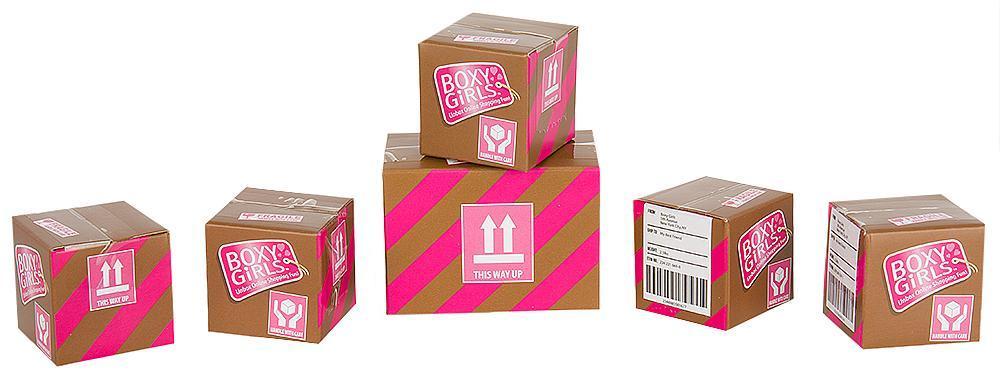 1TOY Набор из 6 посылок с сюрпризом для кукол Boxy Girls