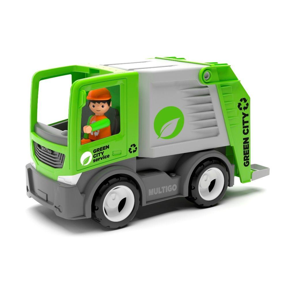 Efko Машина мусоровоз с водителем, 22 см