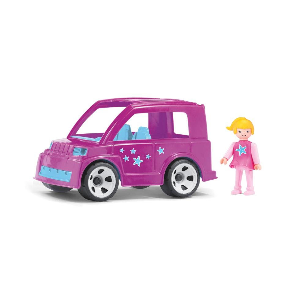 Efko Городской розовый автомобиль с водителем